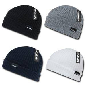 Cuffed Cable Rib Double Knit Skull Cap Beanies (A724) pictures & photos