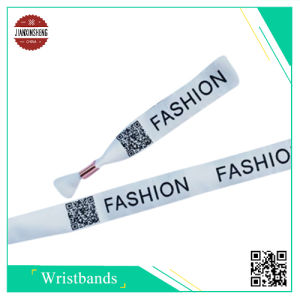 2D Barcode/Qr Code Woven Wristband for Event and Promotional pictures & photos