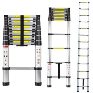 Aluminum Telescopic Ladder 3.8m pictures & photos