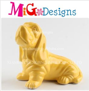 Chinese Concession Pink Stoneware Dog Money Box pictures & photos