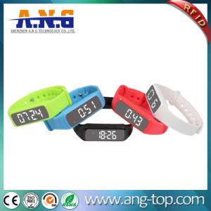 Multifunction RFID Pedometer, Custom Silicone RFID Wristbands with LED Pedometer pictures & photos