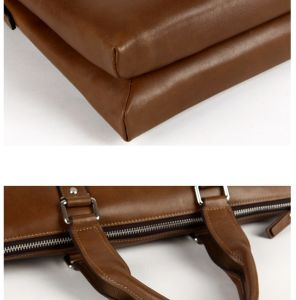 Luxurious Official Fashion Genuine Leather Messenger Bag Briefcase for Men pictures & photos