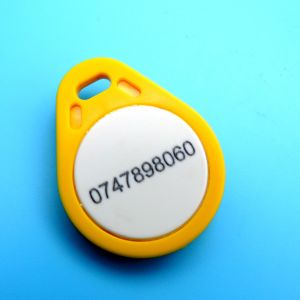 Laser numbering hitag2 smart key tag keychain RFID Keyfob pictures & photos