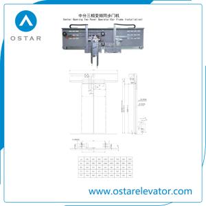 Lift Door System Center Opening Landing Door with Low Price pictures & photos