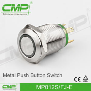 High Head Push Button Switch with Power Lamp (12mm) pictures & photos