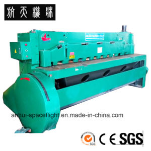 CNC Hydraulic Swing Beam Shearing and Cutting Machine QC12K 10X3200 pictures & photos
