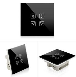 zigbee touch panel switch home automation remote control light switch
