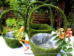Round Moss Handle Flower Girl Basket-Easter Basket-Ring Bearer Basket-Wedding Decorations pictures & photos