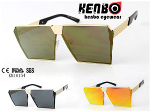 Fashion Men′s Sunglasses Km16154 Oversize Square Frame with Special Temple pictures & photos