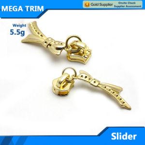 Fashion Light Gold Bag Metal Zipper Slider pictures & photos
