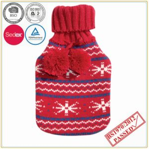 Hot Water Bottle with POM POM Knitted Cover pictures & photos