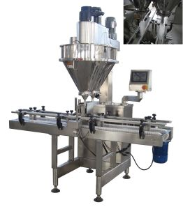 China Automatic Dual Lanes Powder Filling Machine pictures & photos