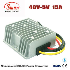 48VDC to 5VDC 15A 75W DC-DC Converter with Waterproof IP68 pictures & photos