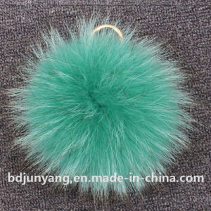 Faux Raccoon Pompom Bag Charm pictures & photos