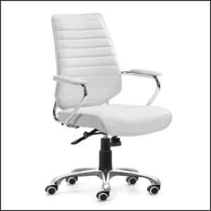 Modern White Elegant Beauty Leather Office Chair PU (SZ-OCP01) pictures & photos