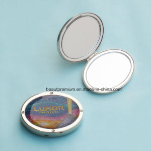 Double Side Pocket Makeup Mirror with Epoxy Pattern BPS0214