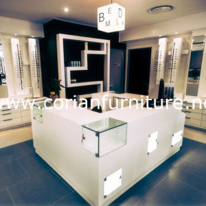 Translucent Corian Acrylic Solid Surface Cosmetic Shop Display Cabinets pictures & photos