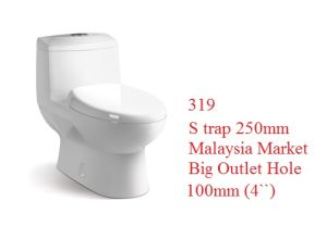 319 Washdown Ceramic One-Piece Toilet, Popular in Malaysia, India, Pakistan pictures & photos