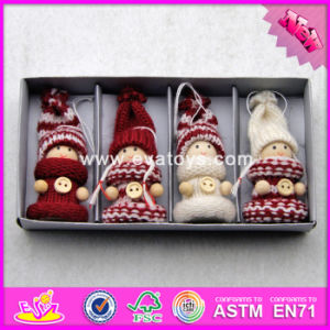 2017 New Products Top Fashion Kids Lovely Dolls Wooden Xmas Toys W02A240 pictures & photos