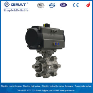 Double Action 3 PC on/off Pneuatmic Ball Valve pictures & photos