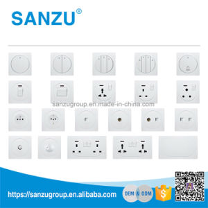 High Quality Factory Price Double Universal Wall Switch and Socket pictures & photos