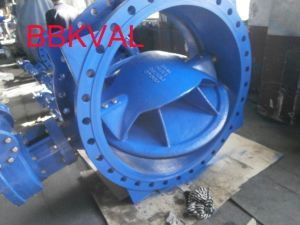 Bi-Directional Eccentric Double Flange Butterfly Valve Gearbox with Top Flange for Actuator pictures & photos