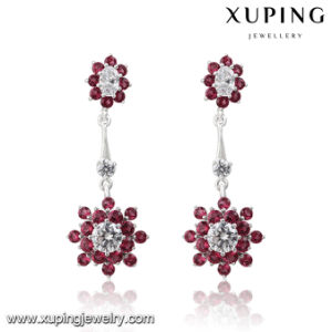 24935 Fashion Luxury Flower Zircon Jewelry Earring for Wedding or Party pictures & photos
