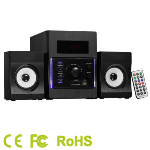 2.1CH Multimedia Home Theater Sound System with USB/SD/FM/Bt and Ce/FCC/RoHS DJ Subwoofer Speaker