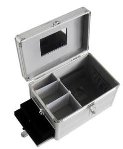 Aluminum Cosmetic Makeup Case with Lock and Handle pictures & photos