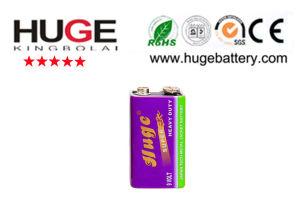 9V carbon zinc battery 6F22 pictures & photos