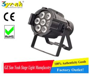 7PCS 4in1 Full Color RGBW Outdoor LED PAR Light Sy-6007