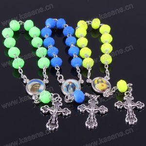 Fashion 8mm Multicolour Glass Chain Bracelets
