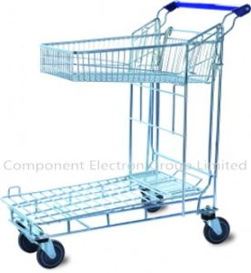 Supermarket Shopping Trolley Unfolded Basket Carts Single Carts pictures & photos