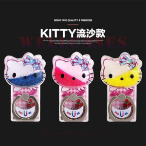 Fashion Mobile Phone Accessories Quicksand Kitty Cat Ring Holder