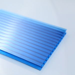 6mm Twin Walls Single UV Stablized Coating Polycarbonate Sunshade Hollow Sheets for Skylight pictures & photos