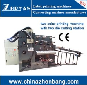 2 Color Flexo Printing Machine With2 Die Cutting Station pictures & photos