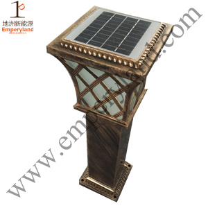 Aluminum Bollard 1W Solar Lawn Light (DZ-CT-216) pictures & photos