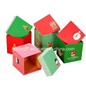 Customized Christmas Printing Square Paper Gift Boxes for Apple Packing pictures & photos