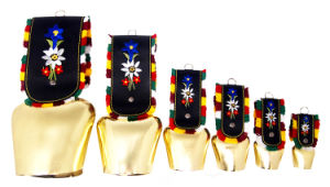 Swiss Cowbells in Various Size Finishing Gold with Strap as Souvenirs Gift pictures & photos