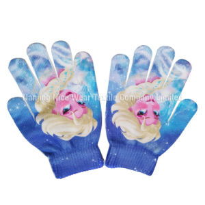 Kids Cute Knitted Gloves with Sublimation Transfer Printing