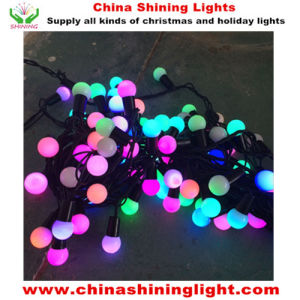 Ce UL SAA Standard Multicolor Black Wire Party Holiday Christmas Decoration LED Party Lights