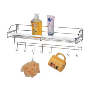 China Hardware Bathroom Accessories Factory Supplies Shower Caddy Rack Manufacturer Metal Steel pictures & photos