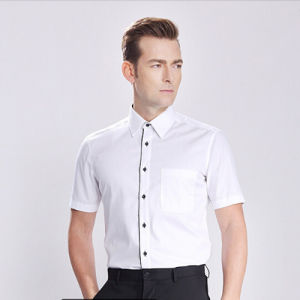 Men′s Printed Short Sleeve Woven Shirts pictures & photos