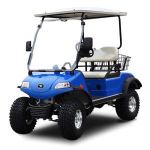 2 Seat Electric Hunting Cart off-Road Vehicle with Rear Basket pictures & photos