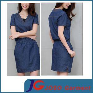Tecel Denim Dress (JC2118) pictures & photos