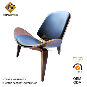 Fabric Cushion Lounge Wood Shell Chair (GV-CH07) pictures & photos