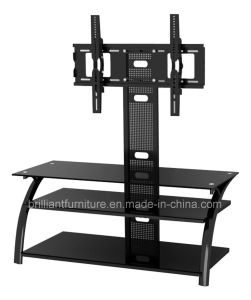 Glass and Metal TV Stand with Bracket (BR-TV212)