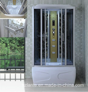 Luxury Rectangle Steam Shower Room with Top Lamp (LTS-604) pictures & photos