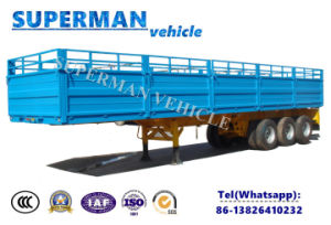 30FT Vietnam Type 3 Axle Sidewall Cargo Semi Truck Trailer pictures & photos