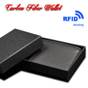China Supplier Custom Fashion RFID Shielding Carbon Fiber Wallets pictures & photos